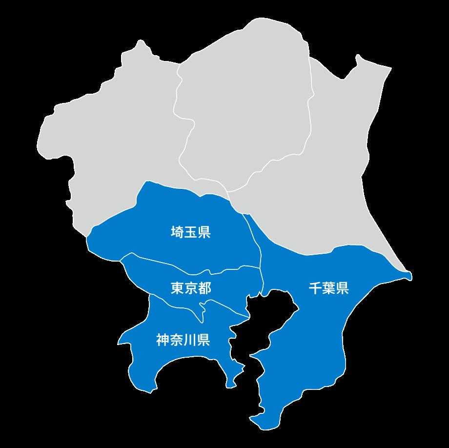 首都圏地図:東京、埼玉、千葉、神奈川の転入が多い