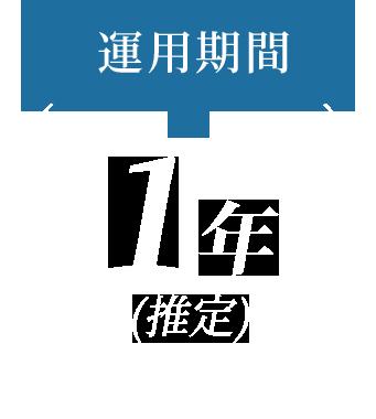 運用期間1年(推定)